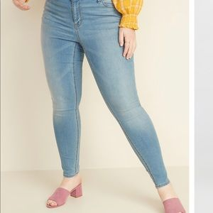 Old Navy plus size Light Wash Skinny Jeans